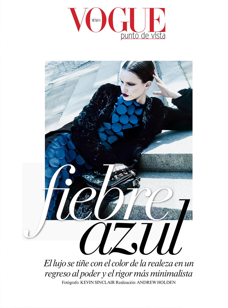azul kevin sinclair1 Julie Borawska Has the Blues for Vogue Mexico Spread by Kevin Sinclair