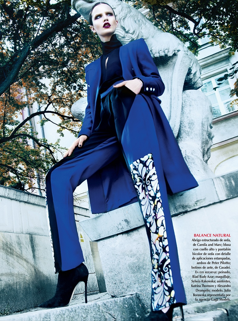 Julie Borawska Has the Blues for Vogue Mexico Spread by Kevin Sinclair