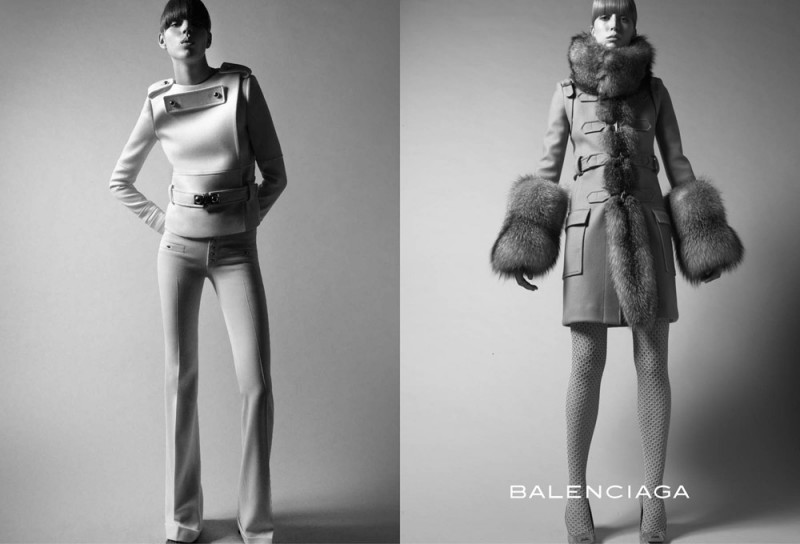 balenciaga fall 2005 campaign1 800x544 Throwback Thursday | Freja Beha Erichsen & Raquel Zimmermann for Balenciaga Fall 2005 Ads