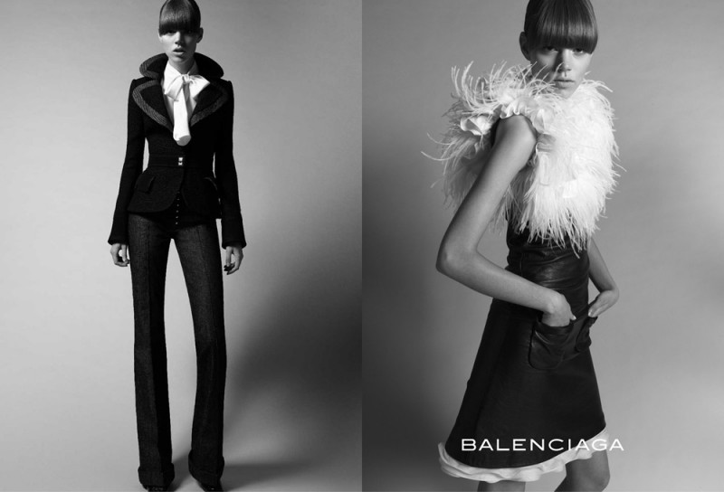 balenciaga fall 2005 campaign2 800x544 Throwback Thursday | Freja Beha Erichsen & Raquel Zimmermann for Balenciaga Fall 2005 Ads