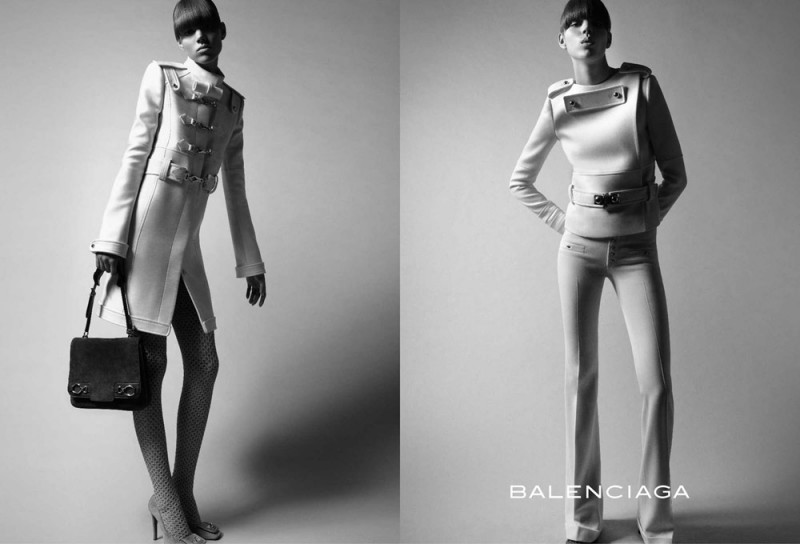balenciaga fall 2005 campaign3 800x544 Throwback Thursday | Freja Beha Erichsen & Raquel Zimmermann for Balenciaga Fall 2005 Ads