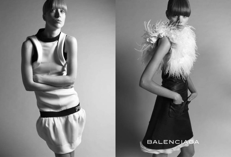 balenciaga fall 2005 campaign4 800x544 Throwback Thursday | Freja Beha Erichsen & Raquel Zimmermann for Balenciaga Fall 2005 Ads