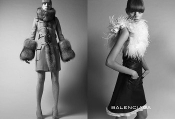Throwback Thursday | Freja Beha Erichsen & Raquel Zimmermann for Balenciaga Fall 2005 Ads