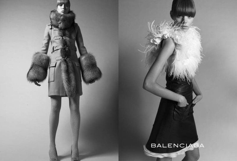 balenciaga fall 2005 campaign5 800x544 Throwback Thursday | Freja Beha Erichsen & Raquel Zimmermann for Balenciaga Fall 2005 Ads