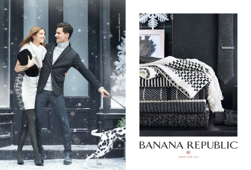 banana republic holiday2 800x544 Jessica Stam & Arlenis Sosa Front Banana Republics Holiday 2013 Ads
