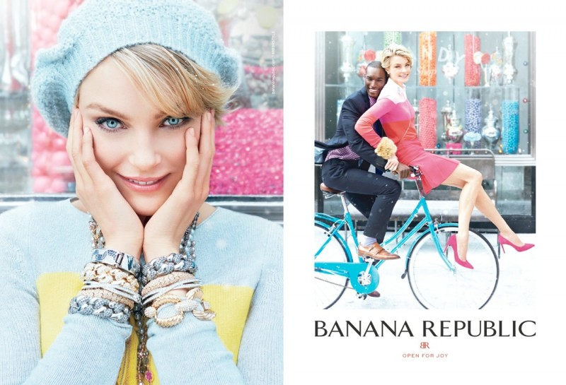 banana republic holiday3 800x545 Jessica Stam & Arlenis Sosa Front Banana Republics Holiday 2013 Ads