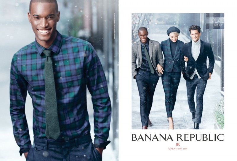 banana republic holiday4 800x545 Jessica Stam & Arlenis Sosa Front Banana Republics Holiday 2013 Ads