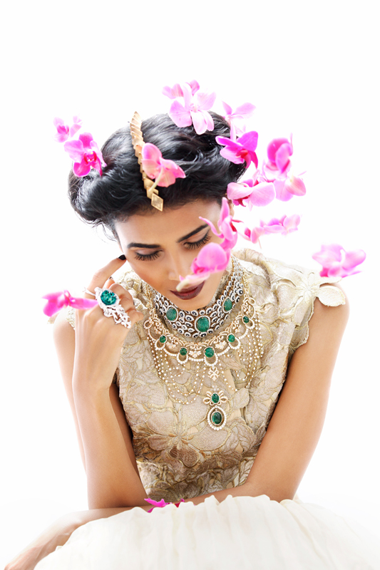 bridal beauty india1 Nidhi + Radhika Wear Bridal Beauty for Grazia India by Taras Taraporvala