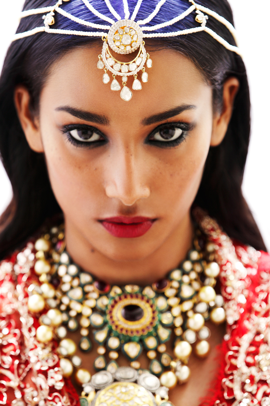 bridal beauty india7 Nidhi + Radhika Wear Bridal Beauty for Grazia India by Taras Taraporvala