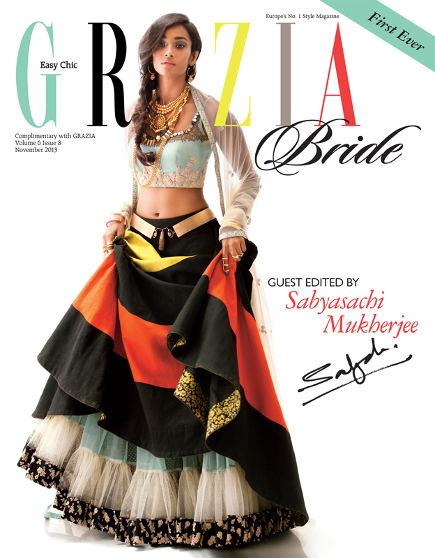 bridal beauty india8 Nidhi + Radhika Wear Bridal Beauty for Grazia India by Taras Taraporvala