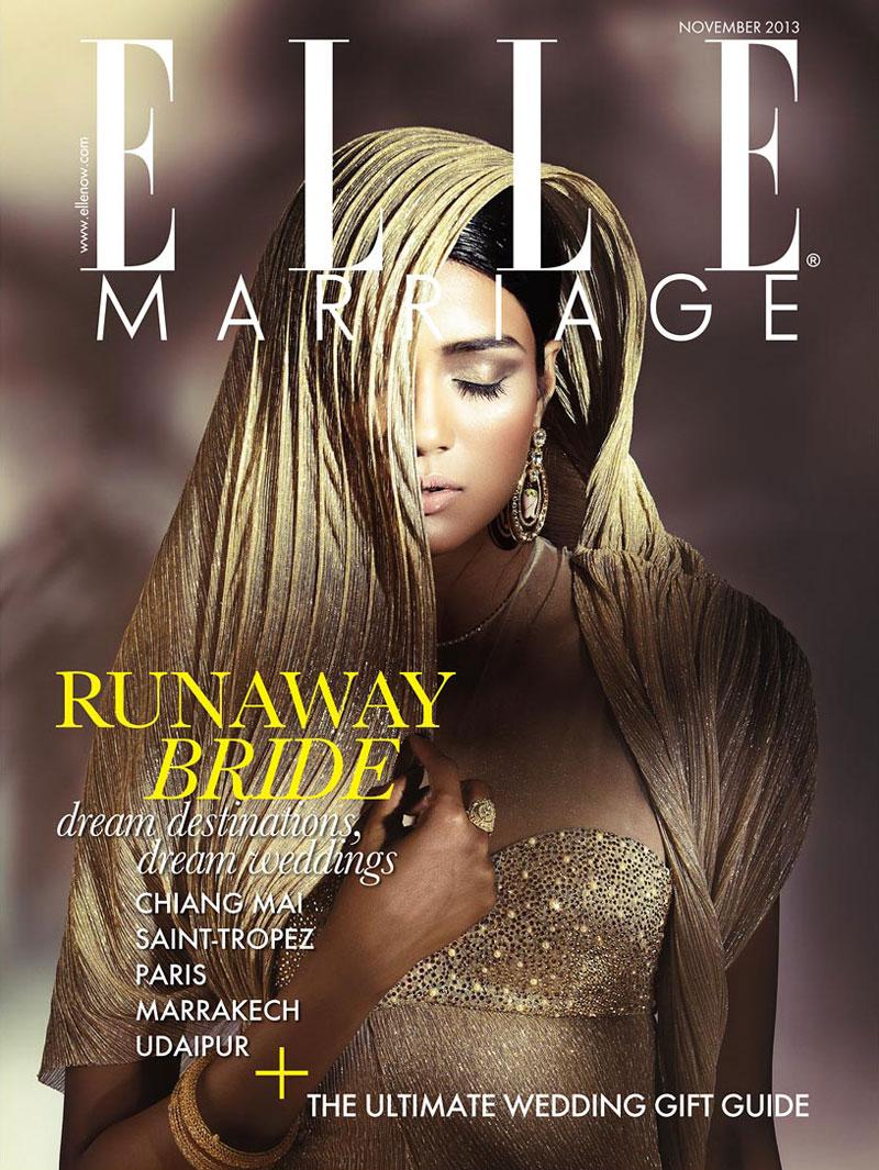 bridal fashion india1 Pallavi Singh Shines in Bridal Fashions for Elle India by Arjun Mark