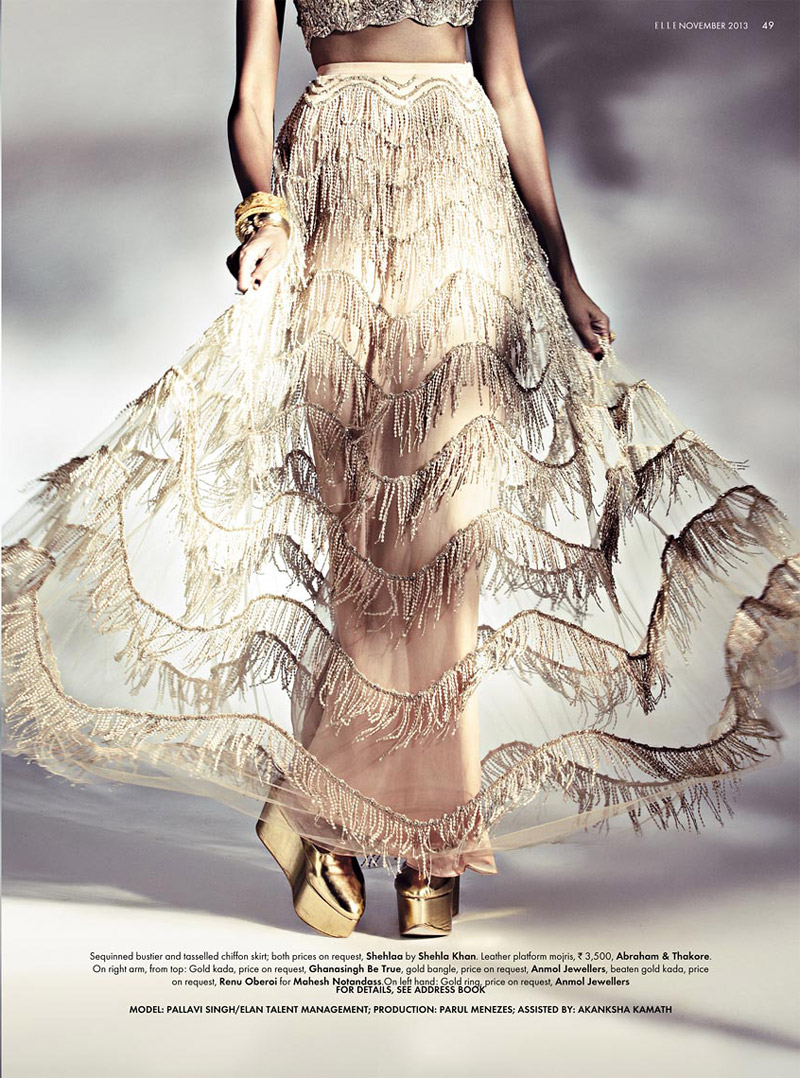 bridal fashion india10 Pallavi Singh Shines in Bridal Fashions for Elle India by Arjun Mark