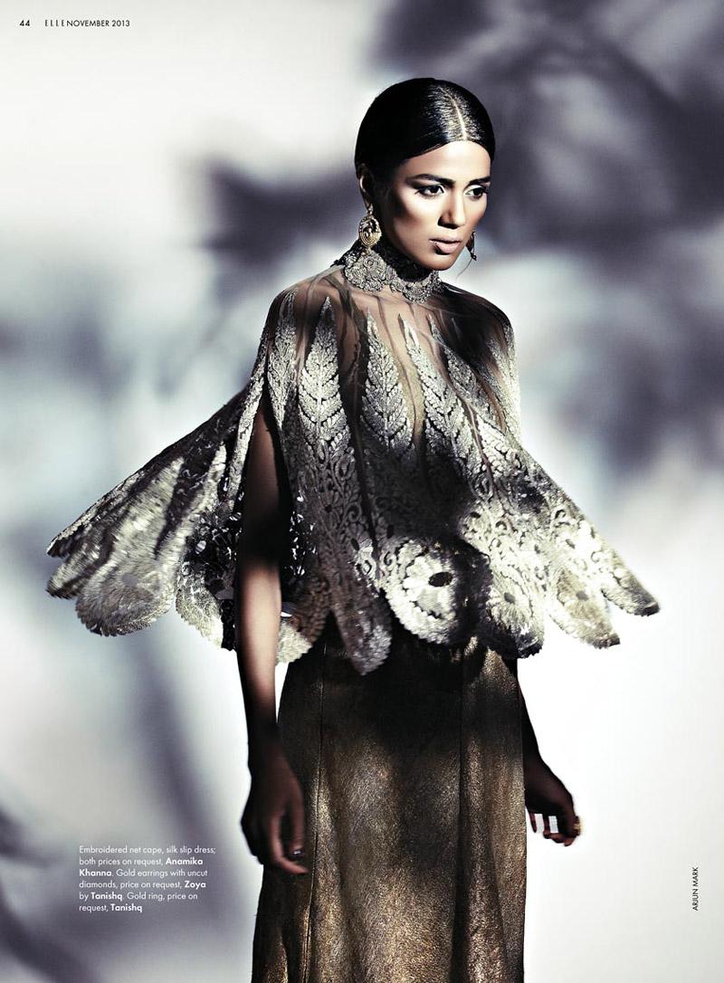 bridal fashion india5 Pallavi Singh Shines in Bridal Fashions for Elle India by Arjun Mark