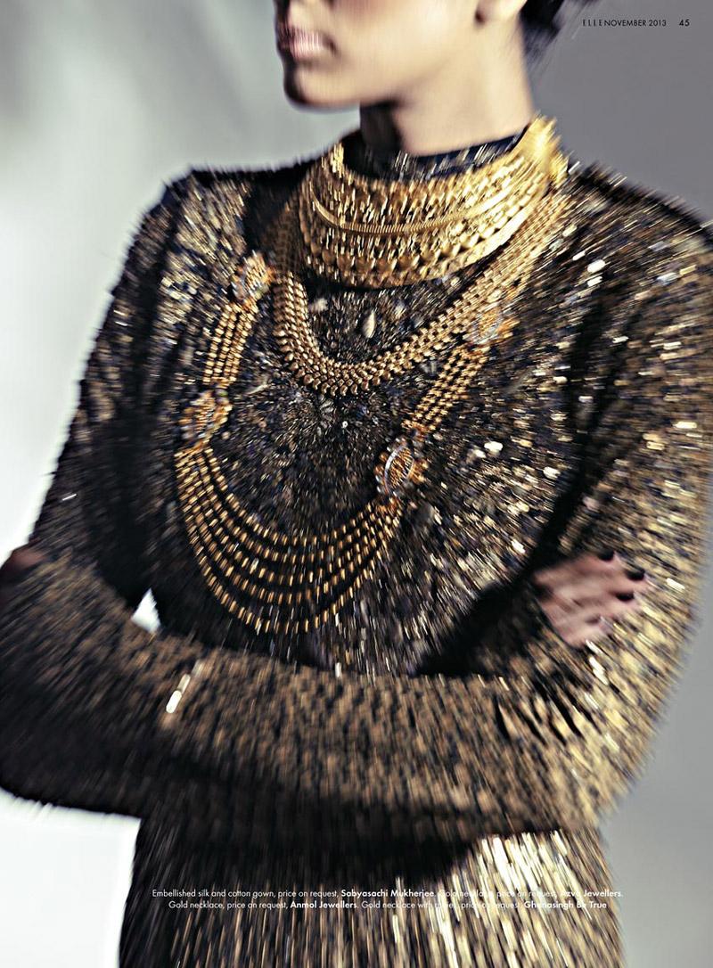 bridal fashion india6 Pallavi Singh Shines in Bridal Fashions for Elle India by Arjun Mark