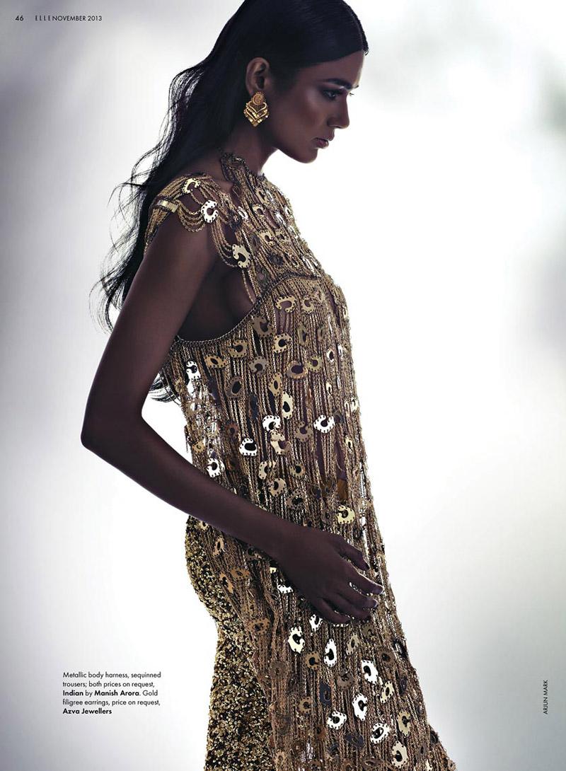bridal fashion india7 Pallavi Singh Shines in Bridal Fashions for Elle India by Arjun Mark