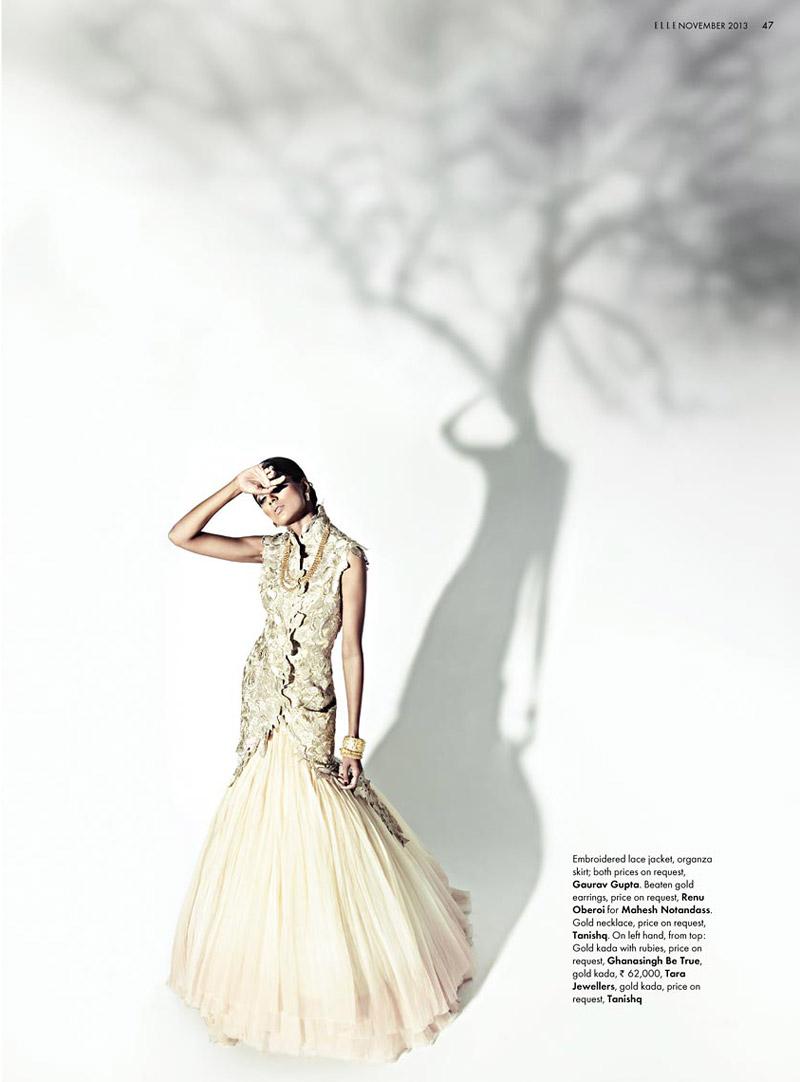bridal fashion india8 Pallavi Singh Shines in Bridal Fashions for Elle India by Arjun Mark