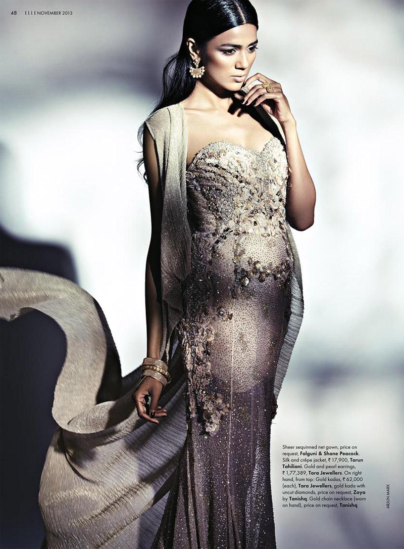 bridal fashion india9 Pallavi Singh Shines in Bridal Fashions for Elle India by Arjun Mark