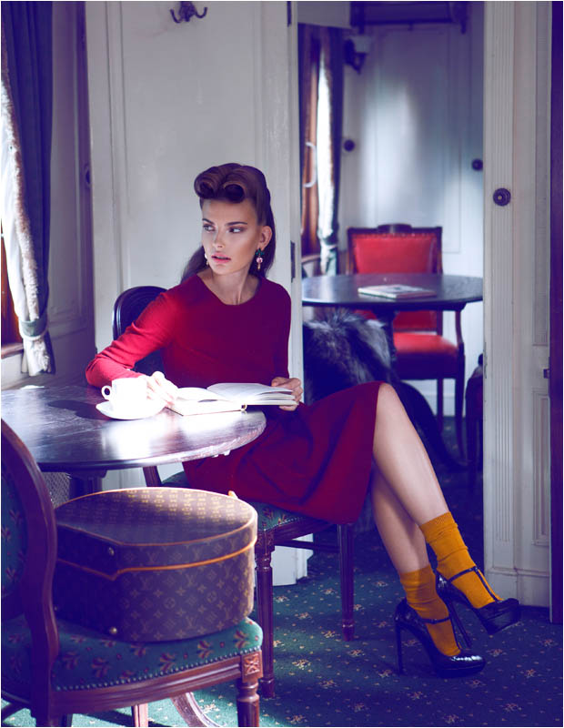 brief encounter2 Semka Semenchenko is Retro Chic for Harrods Magazine by Tibi Clenci