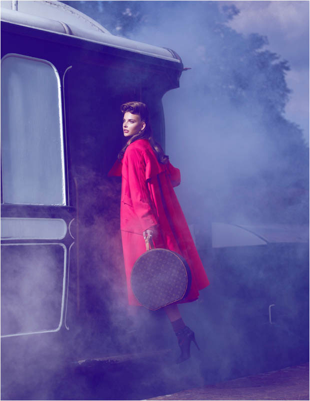 brief encounter3 Semka Semenchenko is Retro Chic for Harrods Magazine by Tibi Clenci