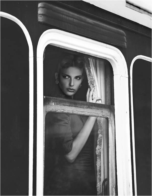 Semka Semenchenko is Retro Chic for Harrods Magazine by Tibi Clenci