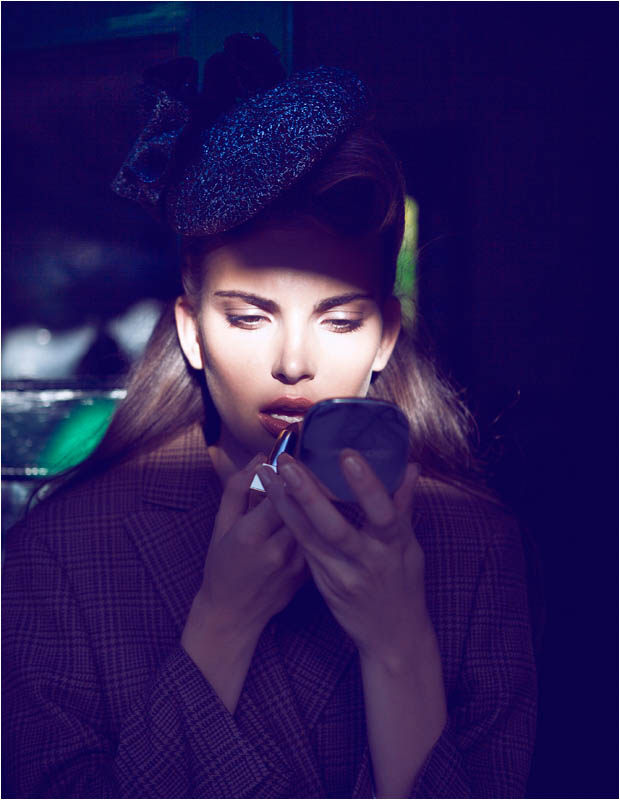 brief encounter6 Semka Semenchenko is Retro Chic for Harrods Magazine by Tibi Clenci