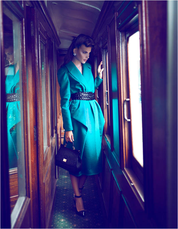 brief encounter8 Semka Semenchenko is Retro Chic for Harrods Magazine by Tibi Clenci