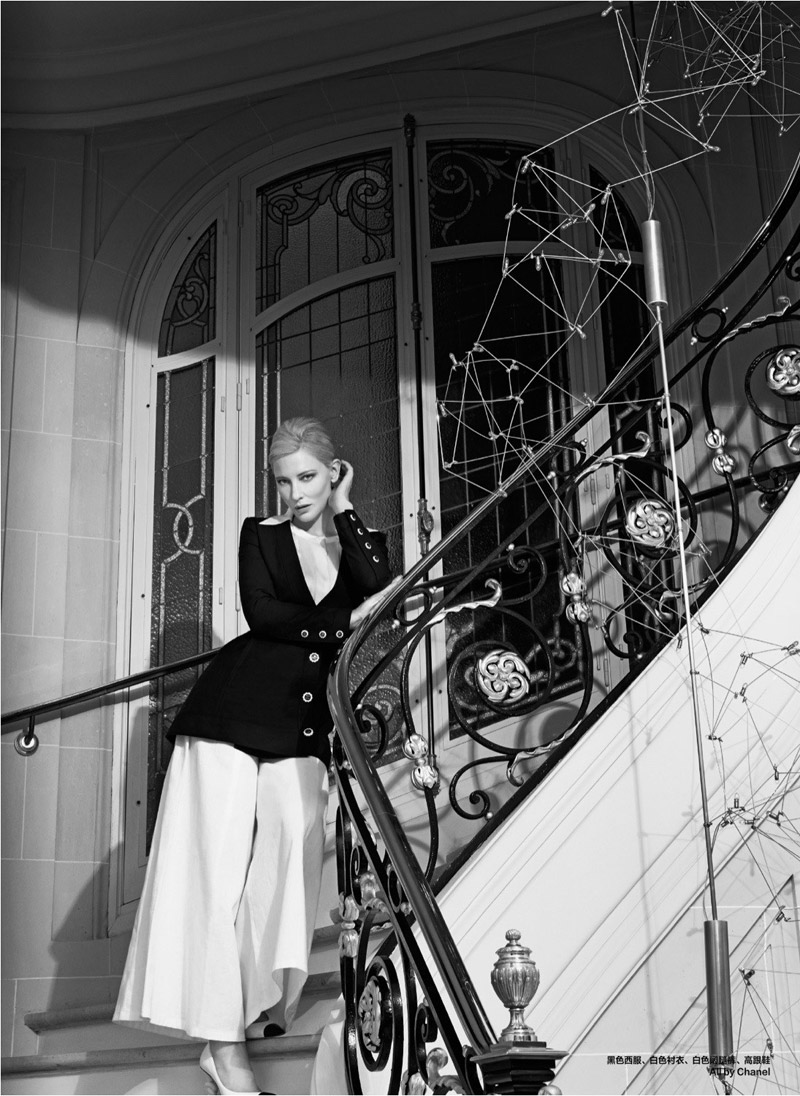 cate blanchett pictures10 Cate Blanchett Poses for Koray Birand in Harpers Bazaar China Shoot