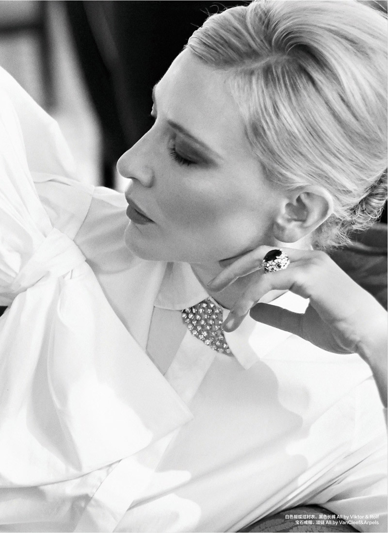cate blanchett pictures5 Cate Blanchett Poses for Koray Birand in Harpers Bazaar China Shoot