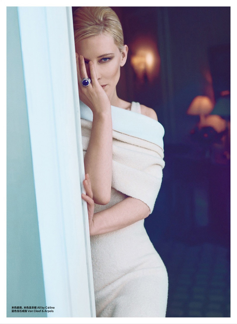 cate blanchett pictures7 Cate Blanchett Poses for Koray Birand in Harpers Bazaar China Shoot