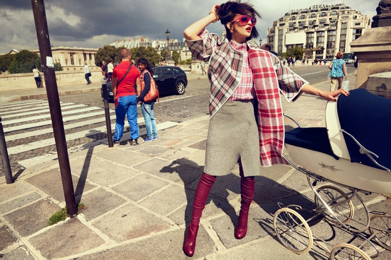 Celia Becker is a Stranger in Paris for Grazia Germany Spread