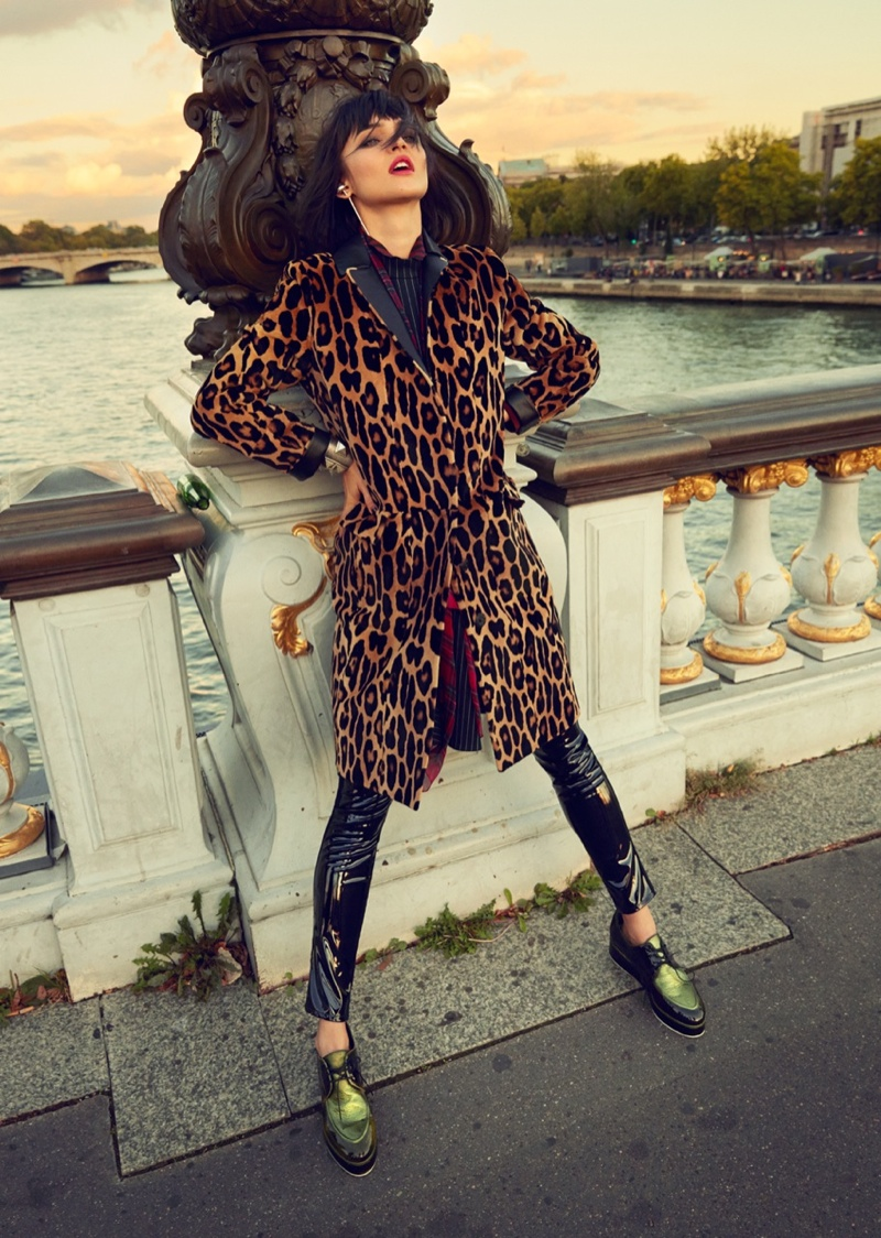 Celia Becker is a Stranger in Paris for Grazia Germany Spread
