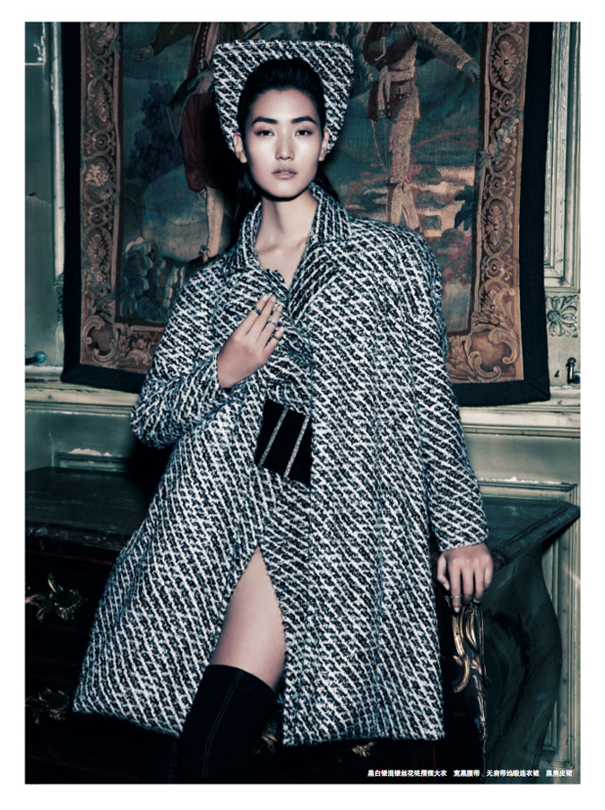 chanel lina2 Lina Zhang Wears Chanel Couture for Prestige October 2013 by Wee Khim