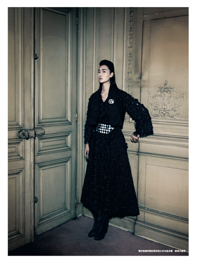 chanel lina9 Lina Zhang Wears Chanel Couture for Prestige October 2013 by Wee Khim