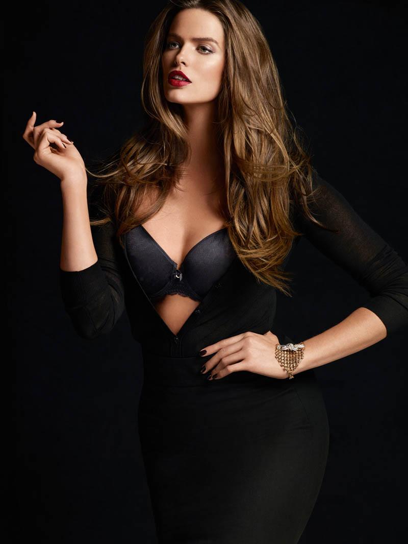 Robyn Lawley + Maryna Linchuk Stun in Chantelle Lingerie F/W 2013 Ads