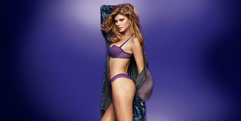 chantelle lingerie fall10 Robyn Lawley + Maryna Linchuk Stun in Chantelle Lingerie F/W 2013 Ads
