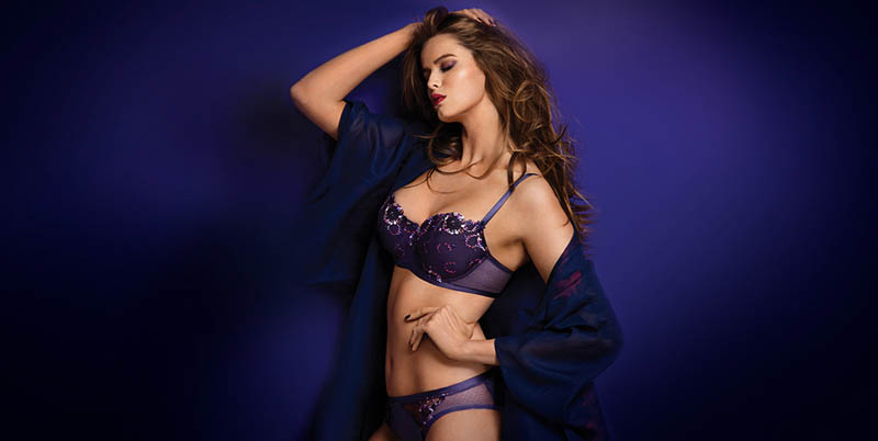 chantelle lingerie fall11 Robyn Lawley + Maryna Linchuk Stun in Chantelle Lingerie F/W 2013 Ads