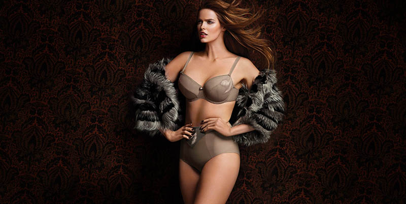 chantelle lingerie fall13 Robyn Lawley + Maryna Linchuk Stun in Chantelle Lingerie F/W 2013 Ads