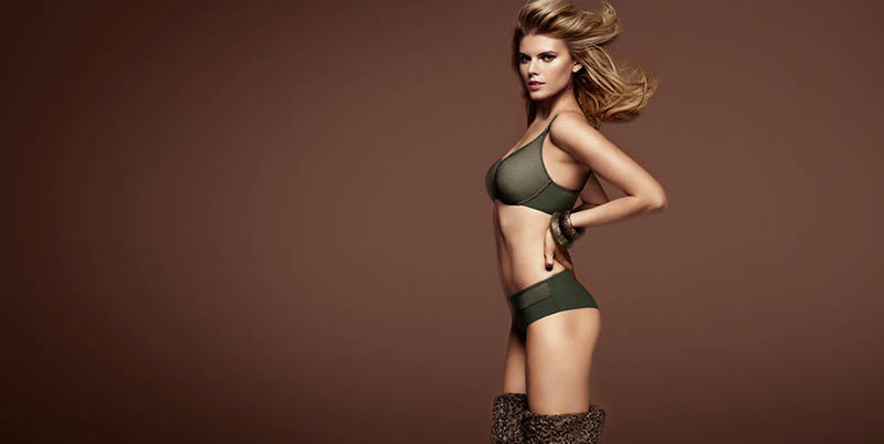 chantelle lingerie fall15 Robyn Lawley + Maryna Linchuk Stun in Chantelle Lingerie F/W 2013 Ads