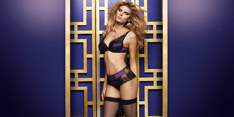 chantelle lingerie fall20 Robyn Lawley + Maryna Linchuk Stun in Chantelle Lingerie F/W 2013 Ads