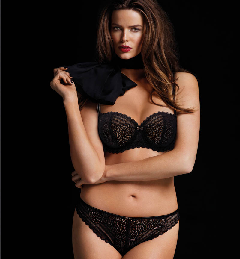 Robyn Lawley + Maryna Linchuk Stun in Chantelle Lingerie F/W 2013 Ads