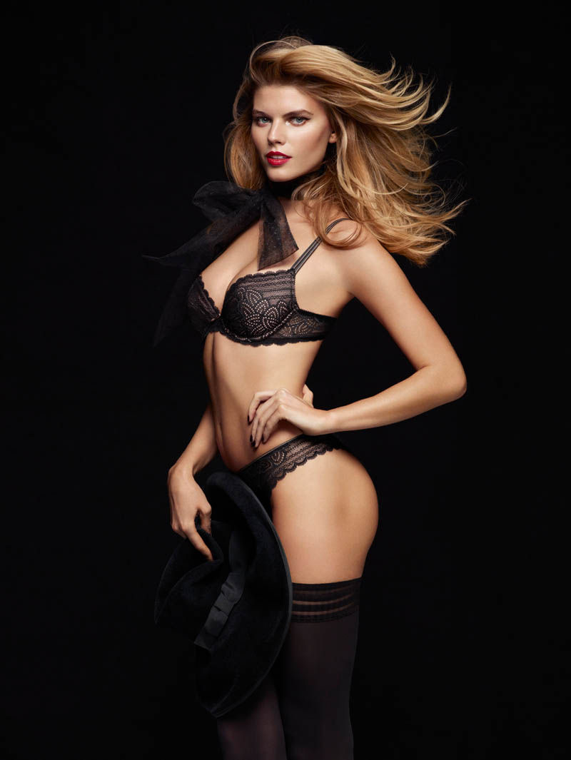 chantelle lingerie fall4 Robyn Lawley + Maryna Linchuk Stun in Chantelle Lingerie F/W 2013 Ads