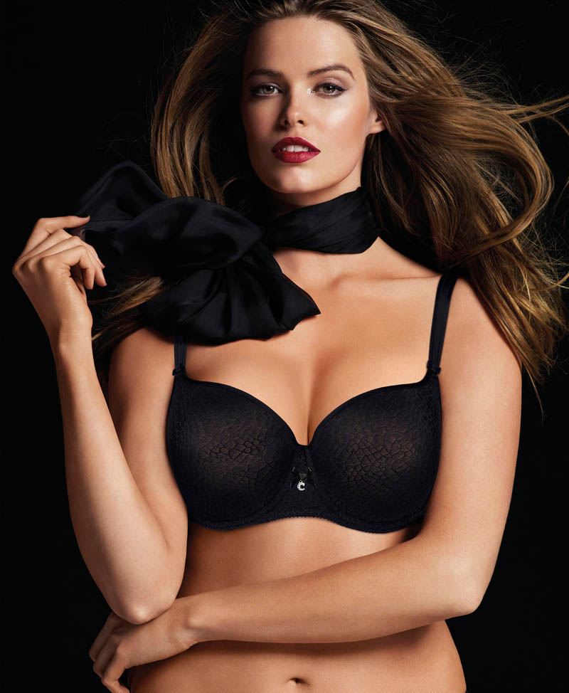 chantelle lingerie fall5 Robyn Lawley + Maryna Linchuk Stun in Chantelle Lingerie F/W 2013 Ads