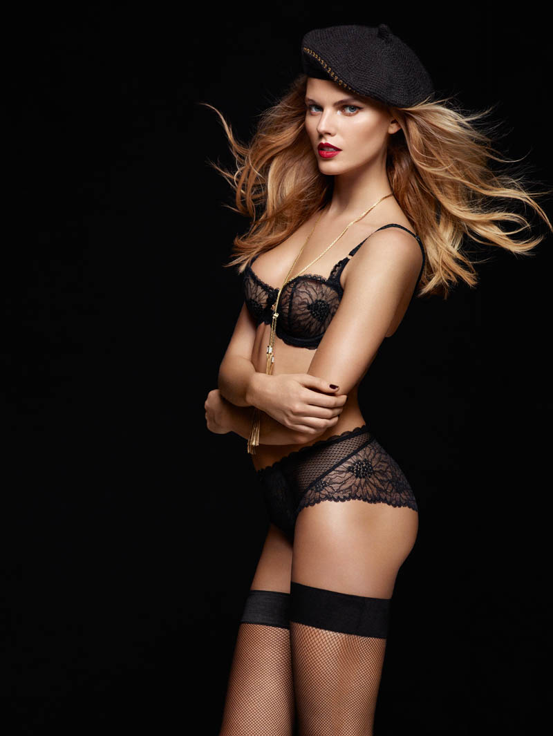 chantelle lingerie fall6 Robyn Lawley + Maryna Linchuk Stun in Chantelle Lingerie F/W 2013 Ads