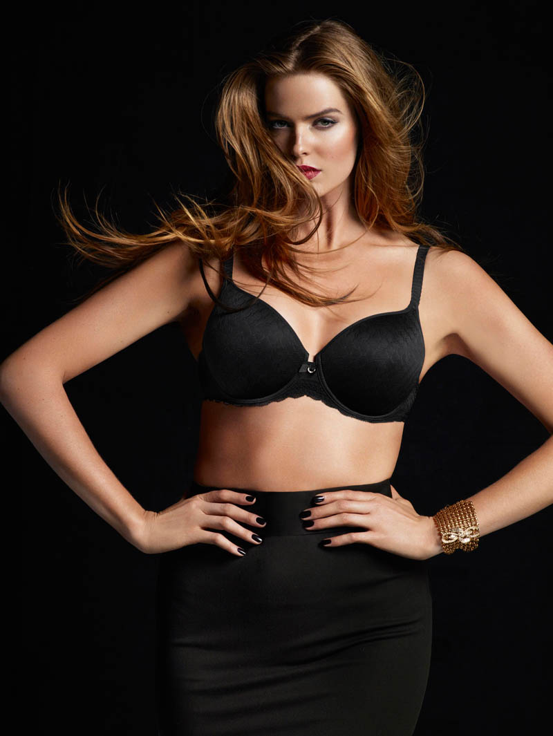 chantelle lingerie fall7 Robyn Lawley + Maryna Linchuk Stun in Chantelle Lingerie F/W 2013 Ads