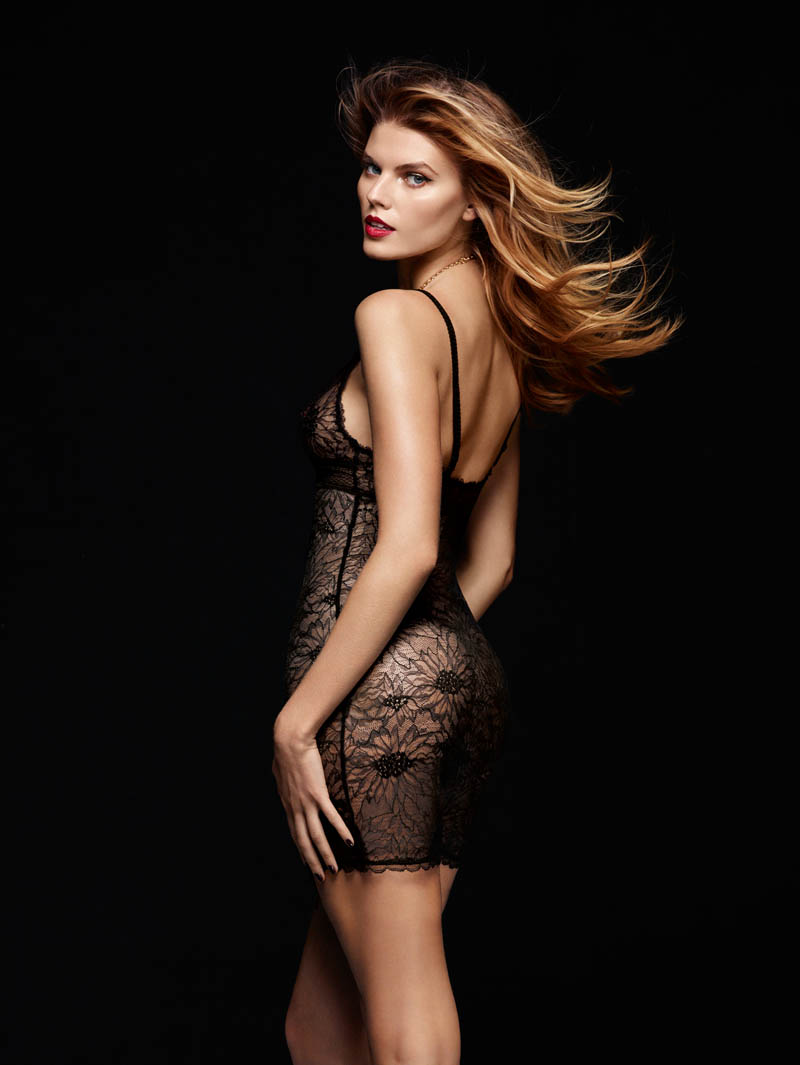 chantelle lingerie fall8 Robyn Lawley + Maryna Linchuk Stun in Chantelle Lingerie F/W 2013 Ads