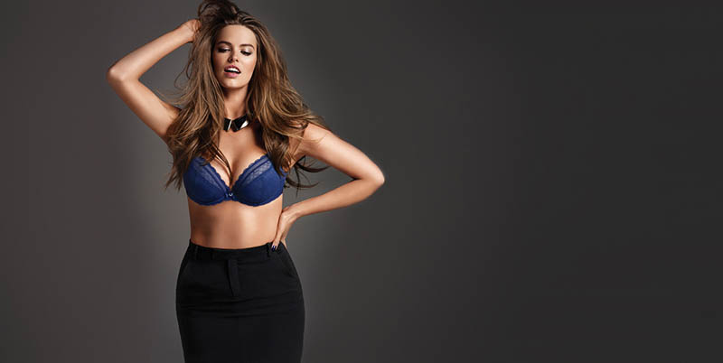 chantelle lingerie fall9 Robyn Lawley + Maryna Linchuk Stun in Chantelle Lingerie F/W 2013 Ads
