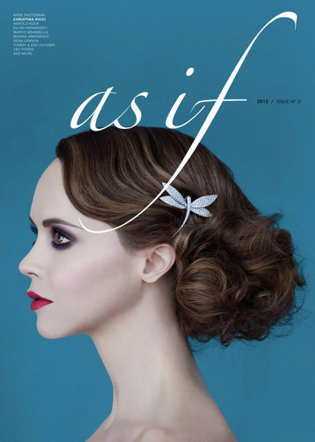 christina riccir1 Christina Ricci Stars in As If Magazine #3 Cover Shoot