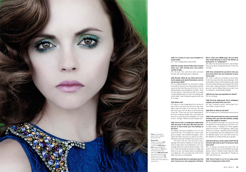 christina riccir3 Christina Ricci Stars in As If Magazine #3 Cover Shoot