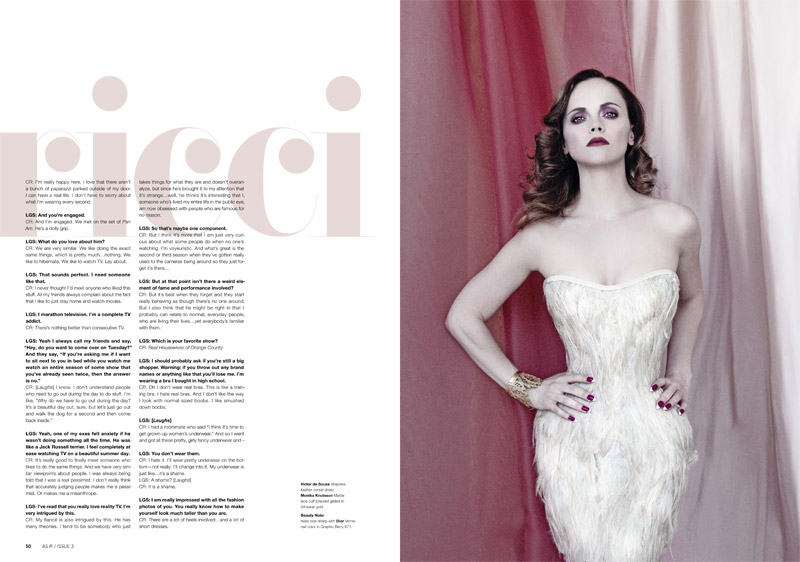 christina riccir4 Christina Ricci Stars in As If Magazine #3 Cover Shoot