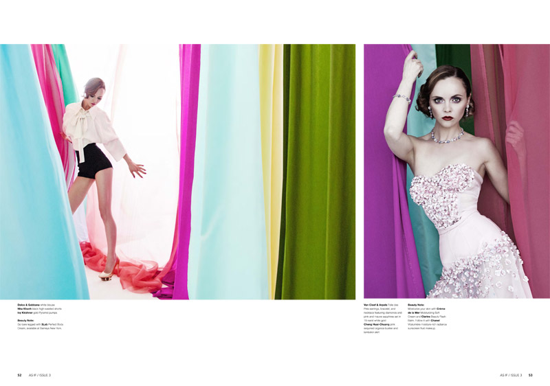 christina riccir5 Christina Ricci Stars in As If Magazine #3 Cover Shoot